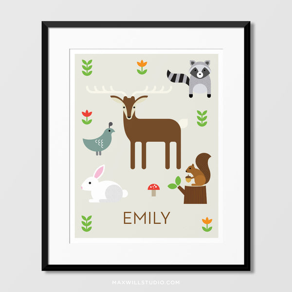 Forest Friends Wall Art (Personalized)