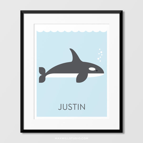 Orca Wall Art (Personalized)
