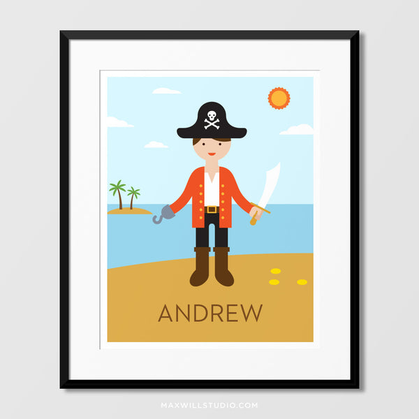 Pirate Captain Wall Art (Personalized)