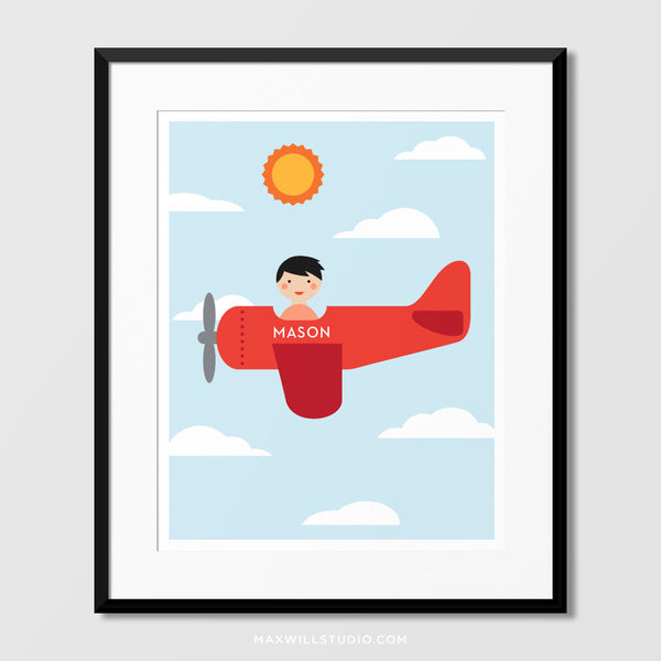 Airplane Wall Art (Personalized)