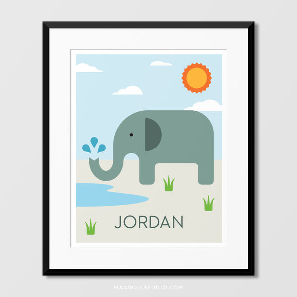 Elephant Wall Art (Personalized)