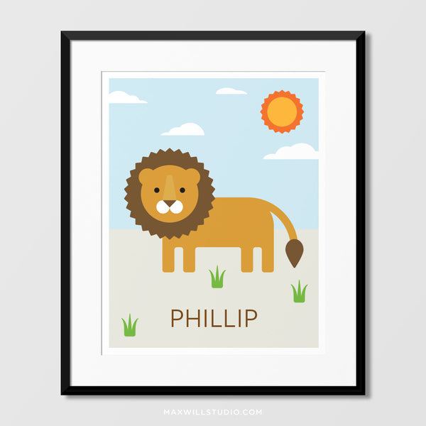 Lion Wall Art (Personalized)