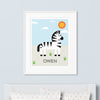 Zebra Wall Art (Personalized)