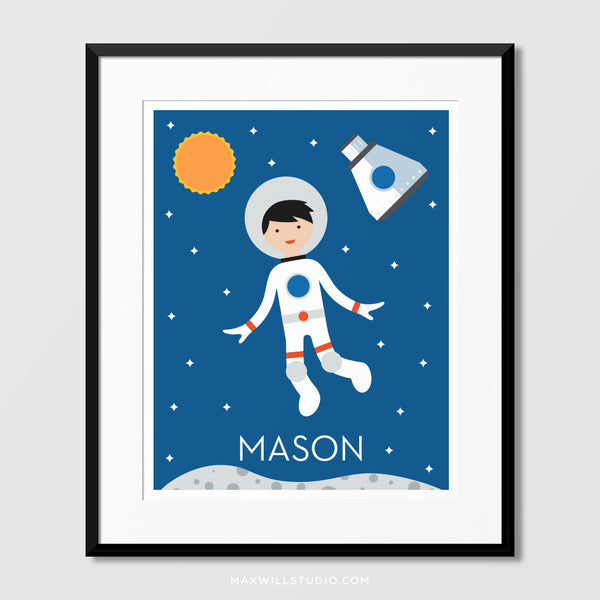 Spaceboy Wall Art (Personalized) - Capsule
