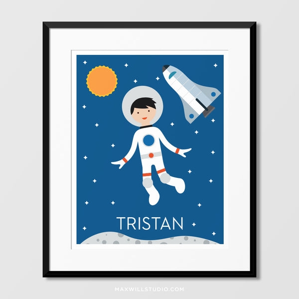 Spaceboy Wall Art (Personalized) - Shuttle