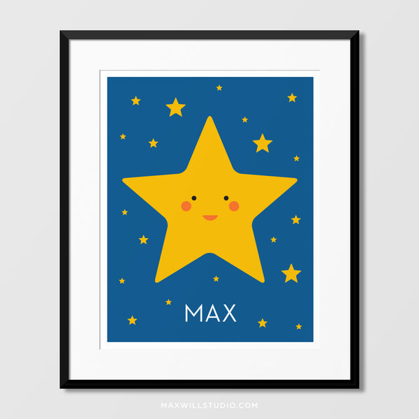 Happy Star Wall Art (Personalized)