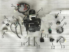 ICE BEAR PARTS - FUERZA PMZ125-1-D -ENGINE and ELECTRICAL PARTS