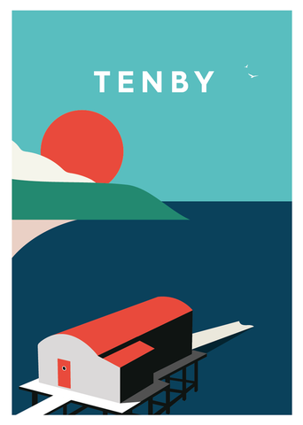Tenby Illustration by Connor J Stephen