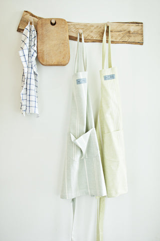 Handmade Pale Blue Cotton Apron