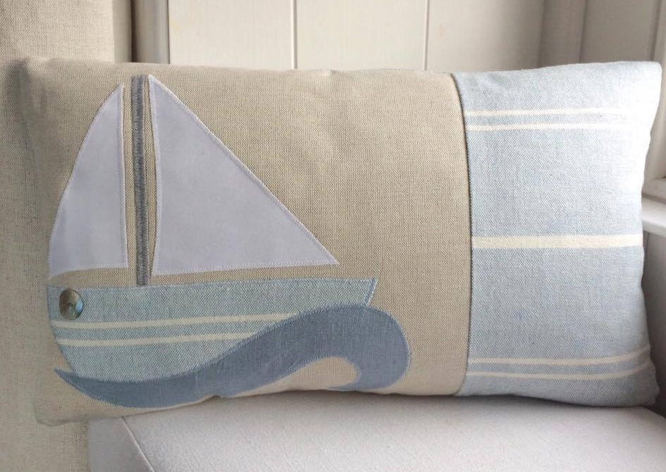 Handmade boat cushion