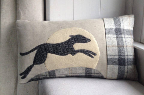 Handmade Leaping Hound cushion