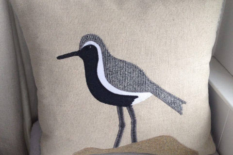 Handmade Plover cushion