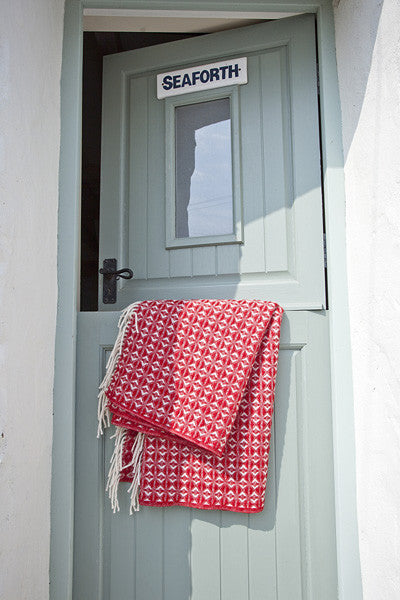 Welsh Woven Red Woollen Throw