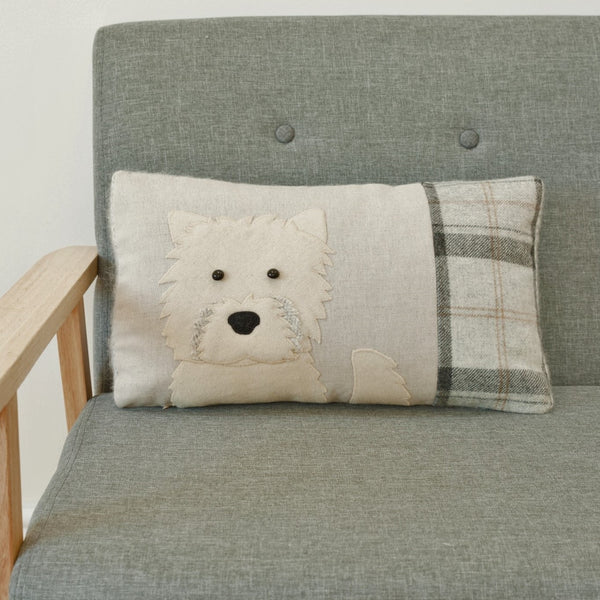 Handmade West Highland Terrier Cushion