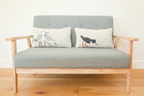 Handmade Oystercatcher Cushion