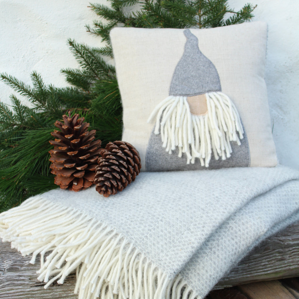 Handmade Scandinavian Tomte Christmas Gnome Cushion