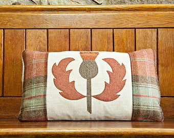 Handmade thistle cushion