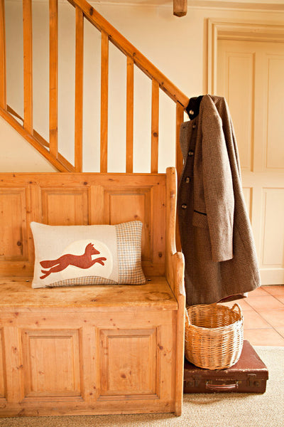 Handmade Leaping Fox Cushion