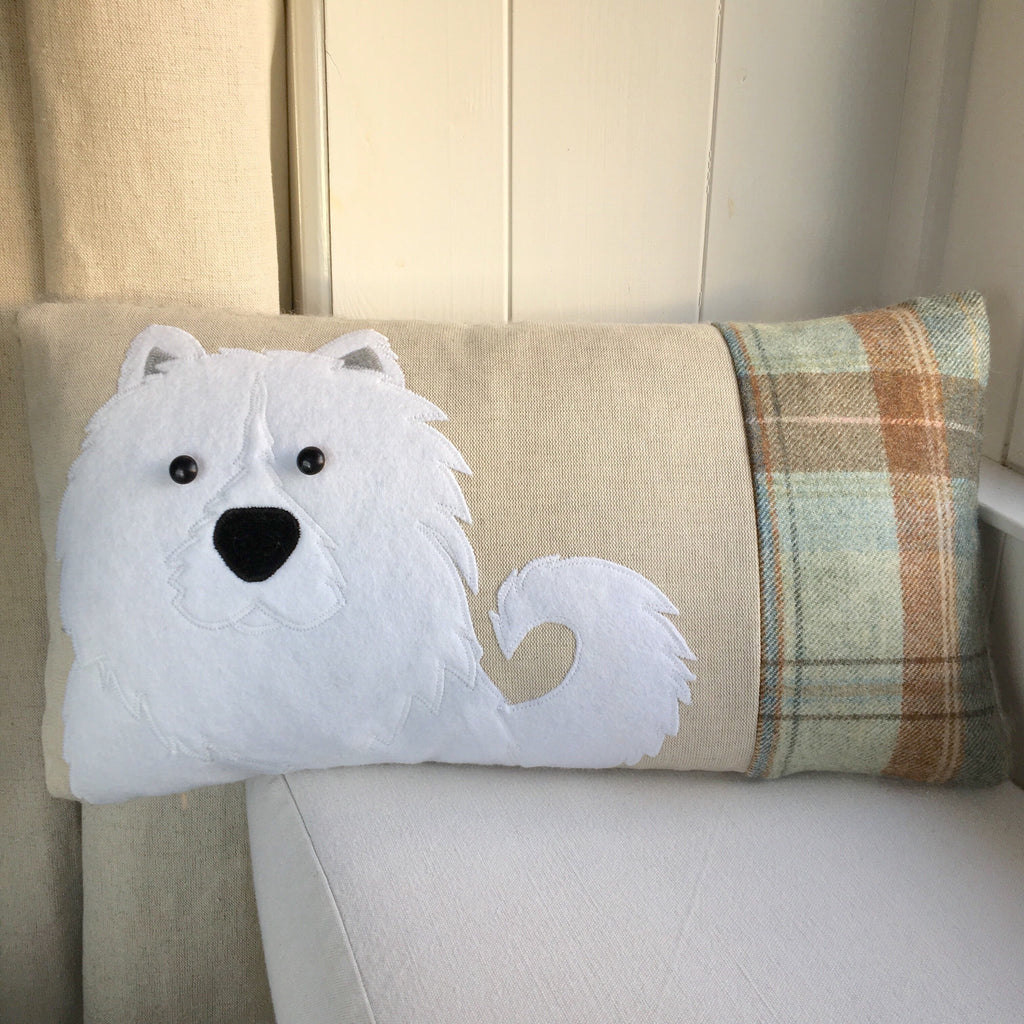 Handmade Samoyed dog cushion