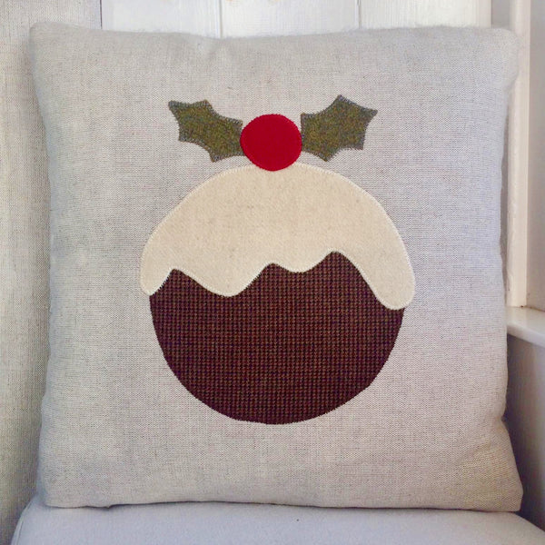 Handmade Christmas Pudding Cushion