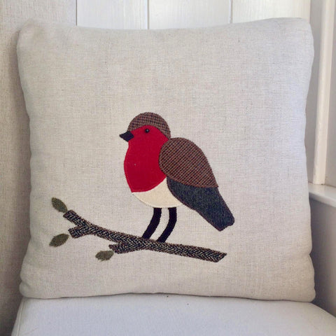 Handmade Robin Cushion