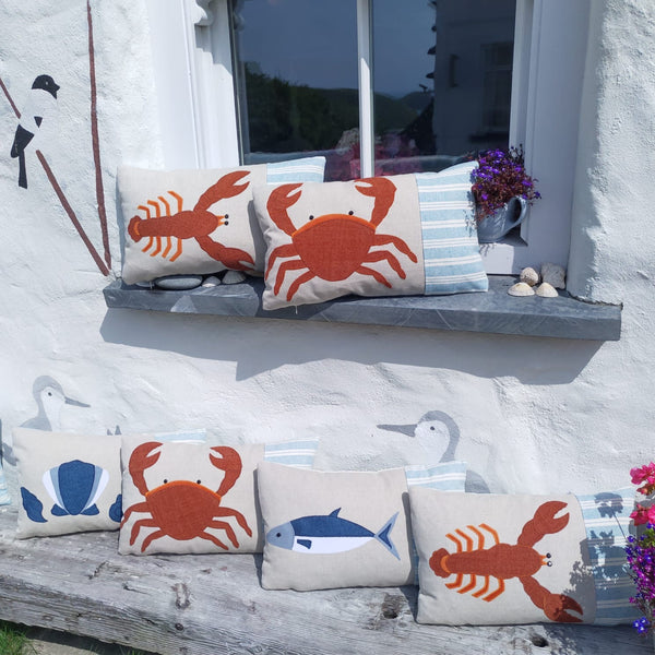 Handmade lobster cushion