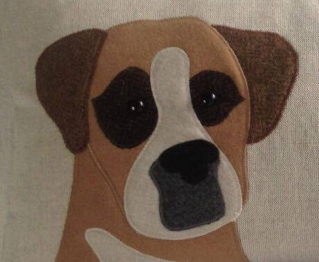 Handmade Boxer Cushion