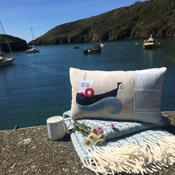 Handmade Solva boat cushion.