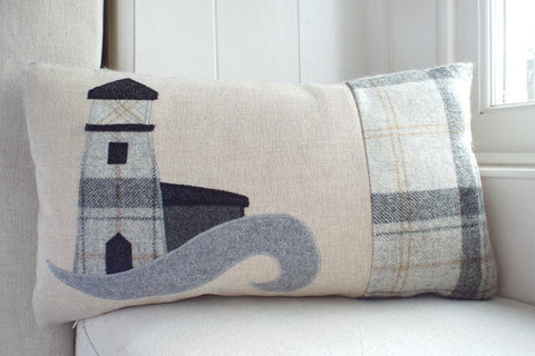 Handmade Lighthouse Cushion