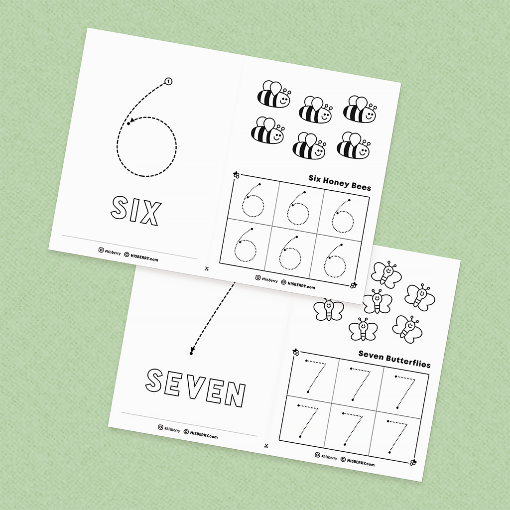 [Spring Math] Tracing numbers 1-10 worksheets