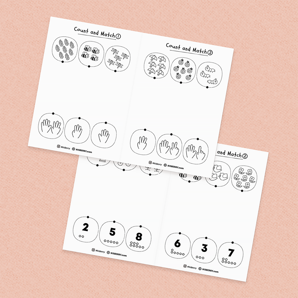 Counting numbers 1-10 worksheets Mini Book
