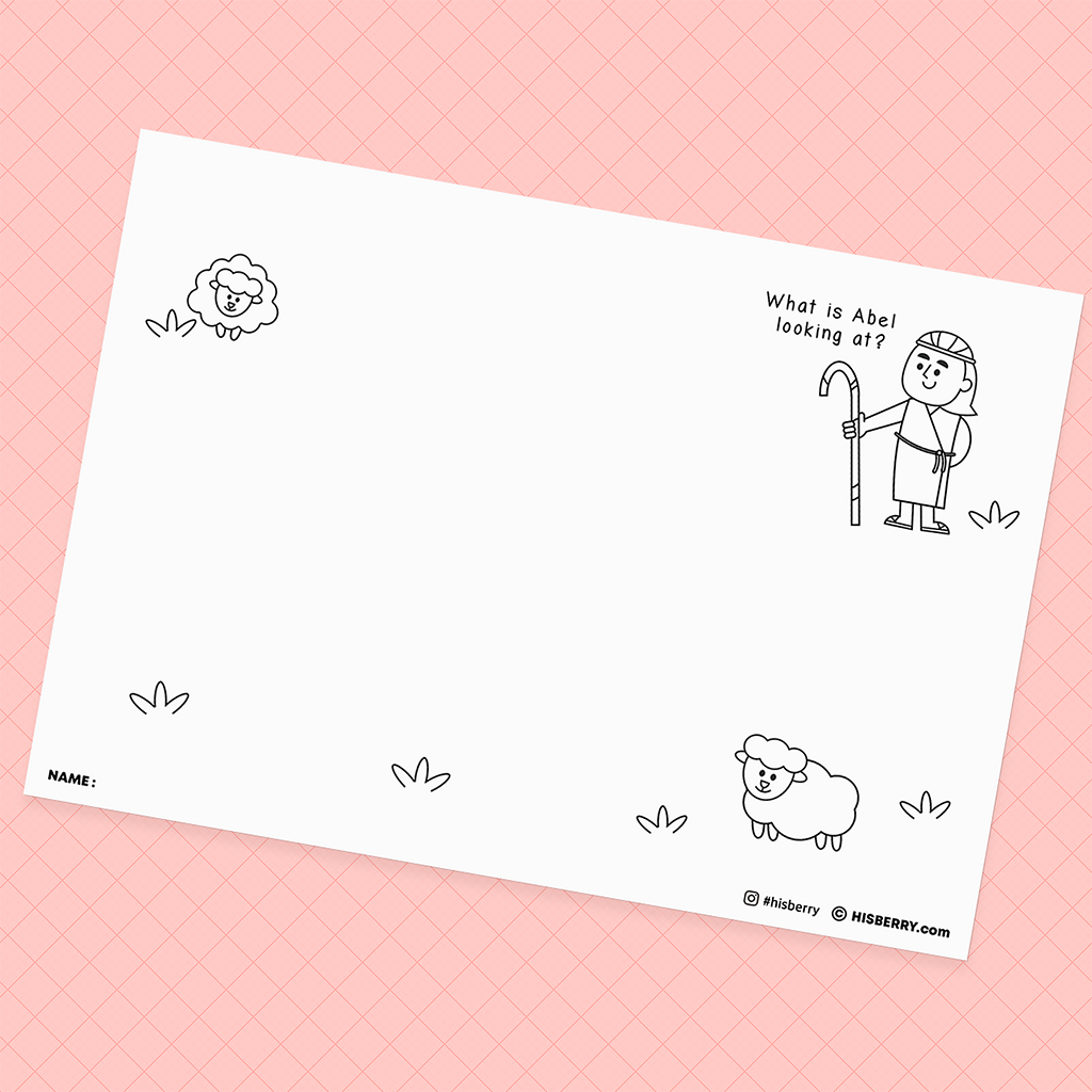 Cain and Abel - Bible Creative Drawing Pages for kid Lesson