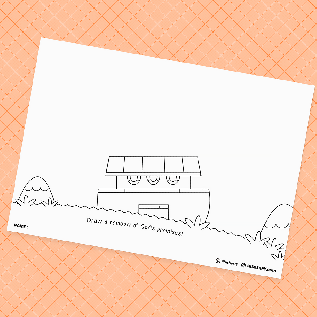 Noah builds the ark1- Bible Creative Drawing Pages for kid Lesson