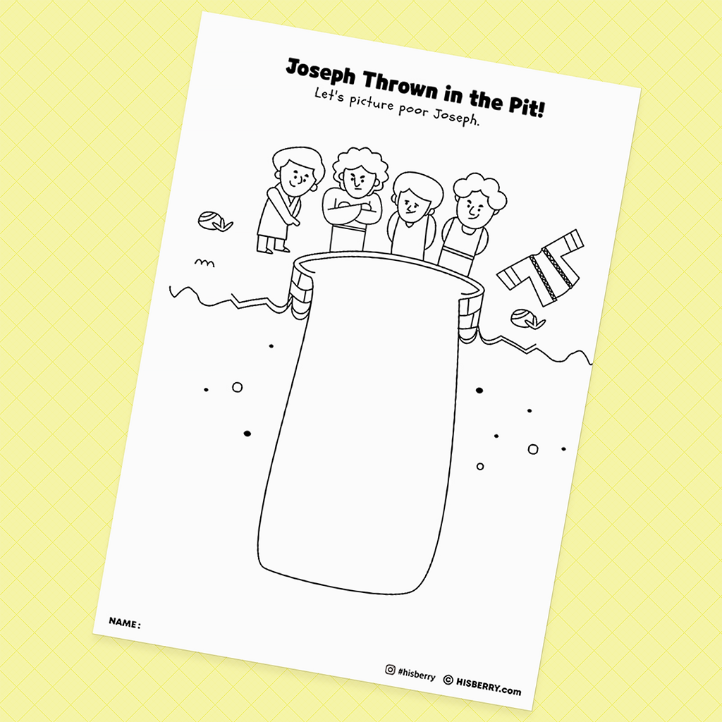 Joseph-is-Sold-by-his-Brothers-Bible-Creative-drawing-pages-printables