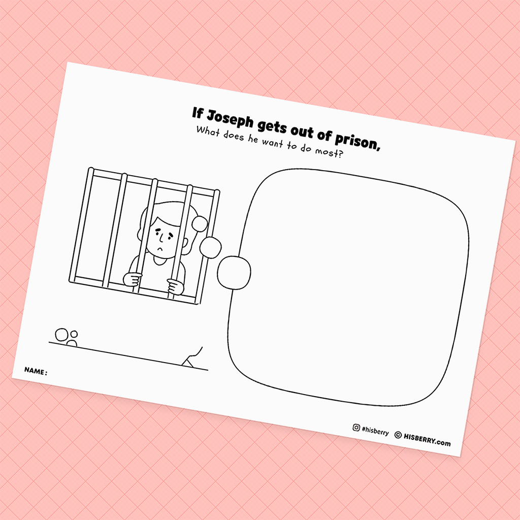 Joseph-in-prison-Bible-Creative-drawing-pages-printables