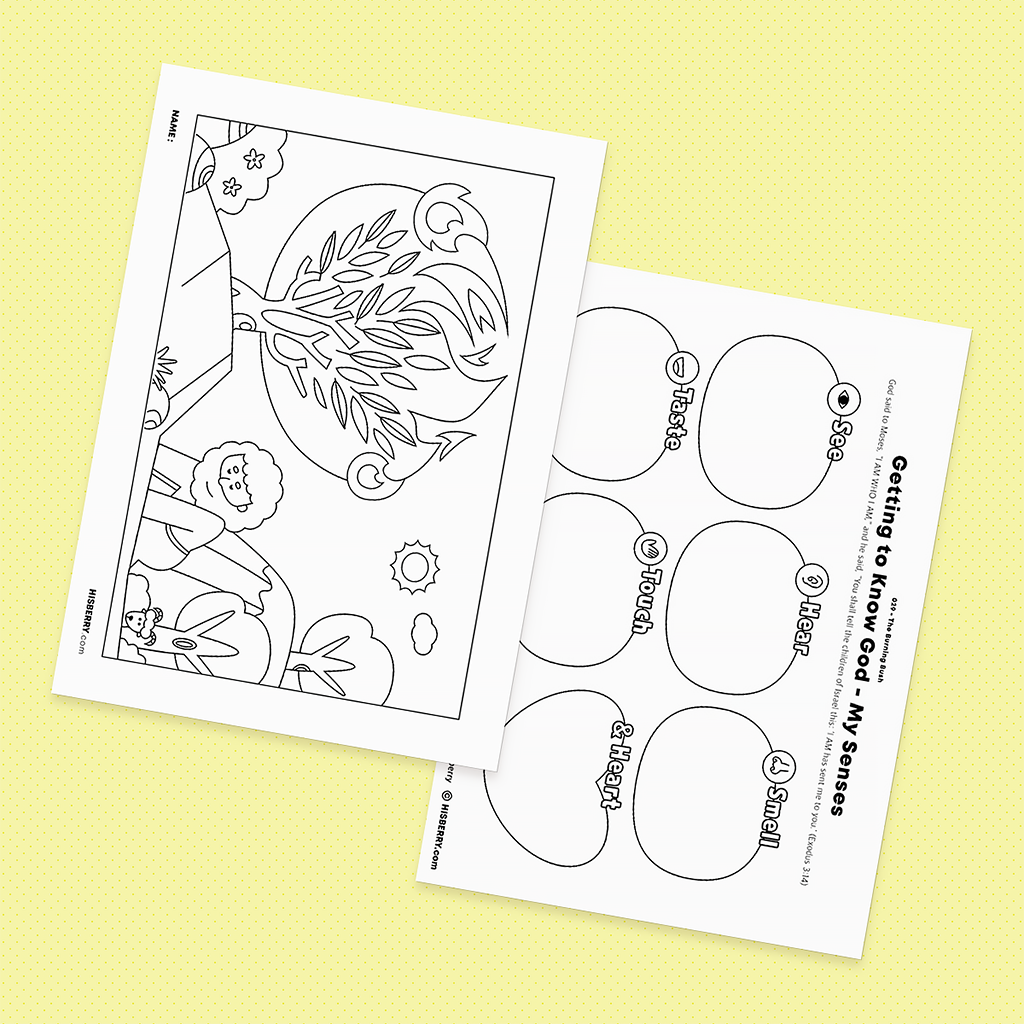 The Burning Bush - Drawing Coloring Pages Printable