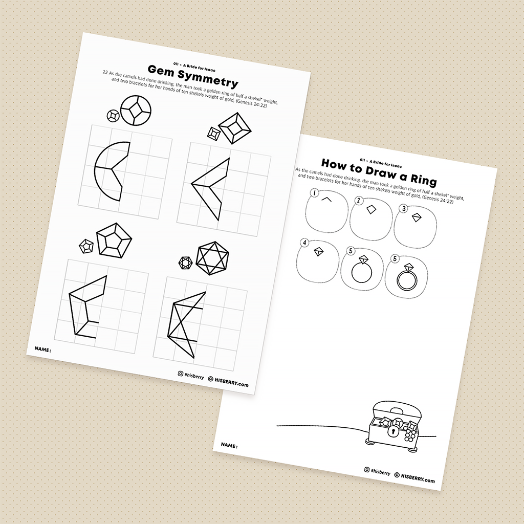 A Bride for Isaac - Creative Drawing Pages Printable