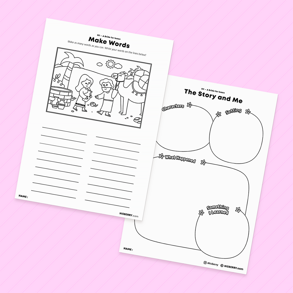 [011] A Bride for Isaac - Bible Verse Activity Worksheets