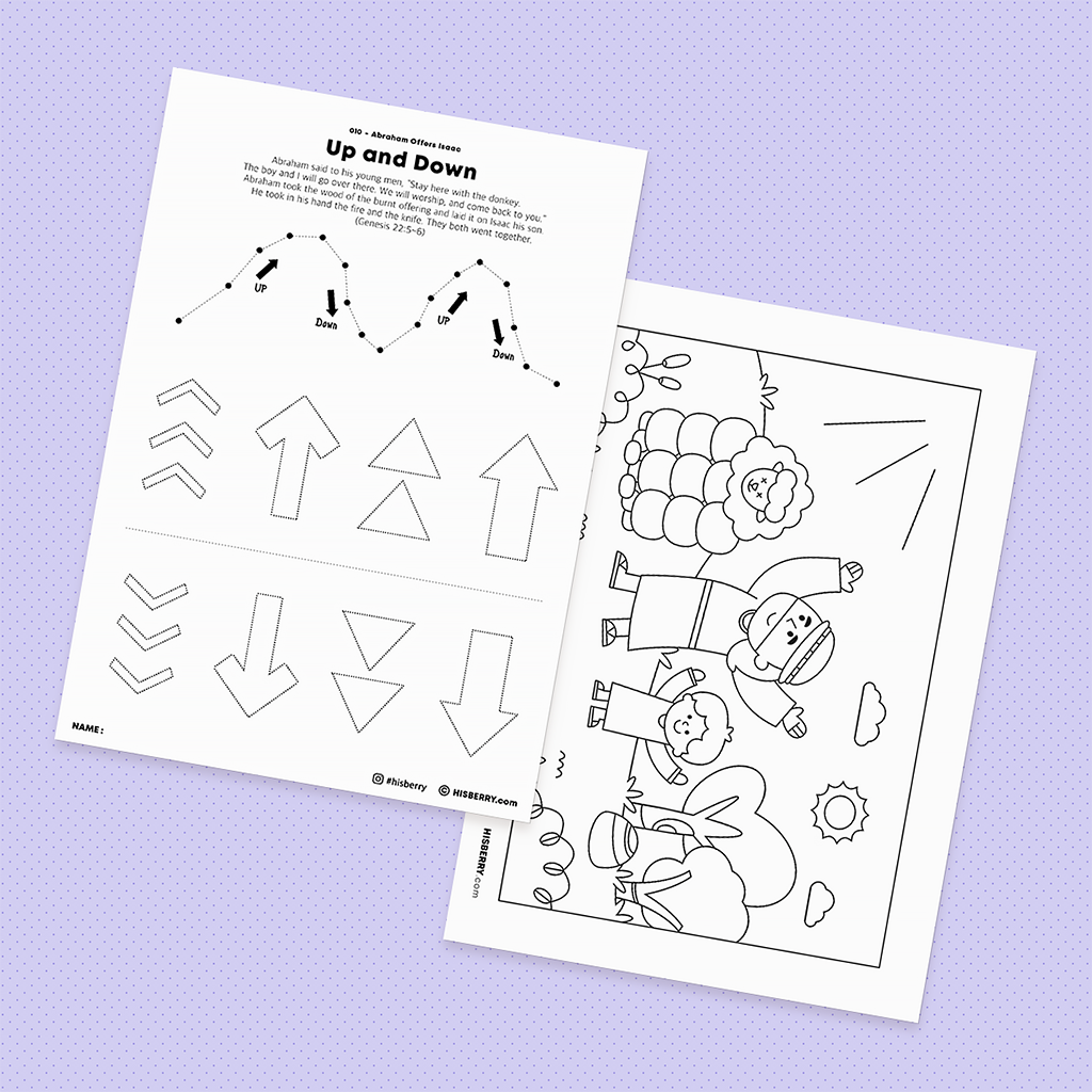 Abraham Offers Isaac - Drawing Coloring Pages Printable