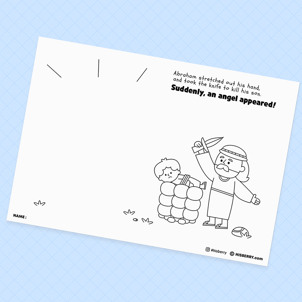 Abraham Offers Isaac - Creative Drawing Pages Printable