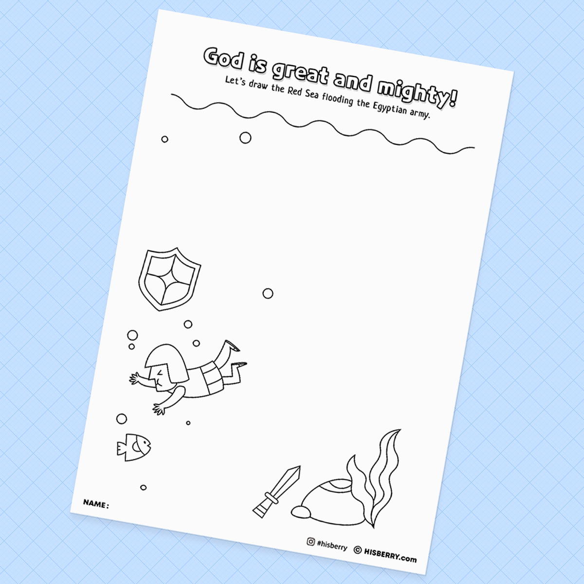 Crossing-the-Red-Sea-Bible-Creative-drawing-pages-printables