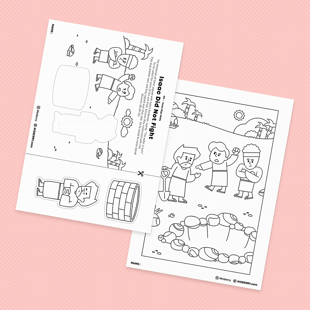 Isaac Digs Wells - Drawing Coloring Pages Printable