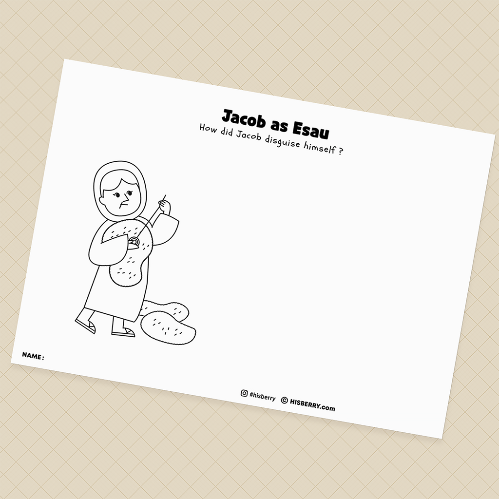 Isaac-Blesses-Jacob-Bible-Creative-drawing-pages-printables