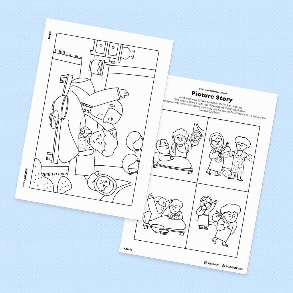 Isaac-Blesses-Jacob-Bible-drawing-Coloring-pages-printables