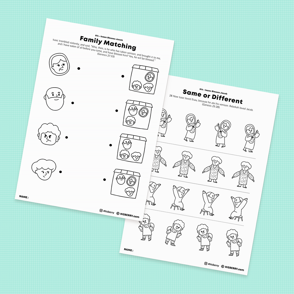 Isaac-Blesses-Jacob-Bible-lesson-Activity-Printables