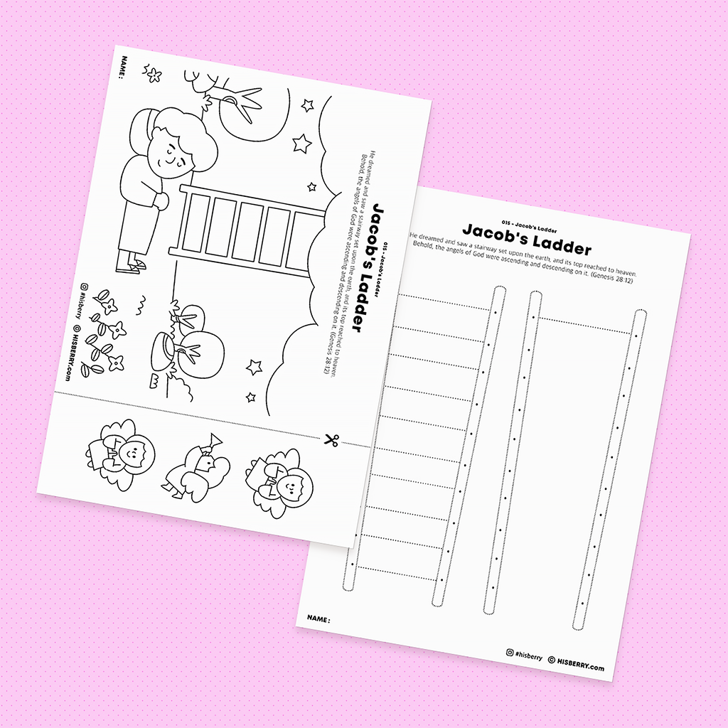 Jacob-Ladder-Jacob-Bible-drawing-Coloring-pages-printables