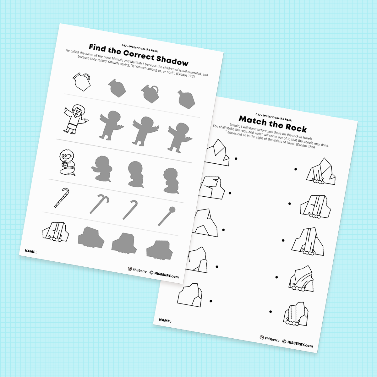 Water-From-the-Rock-Bible-lesson-Activity-Printables