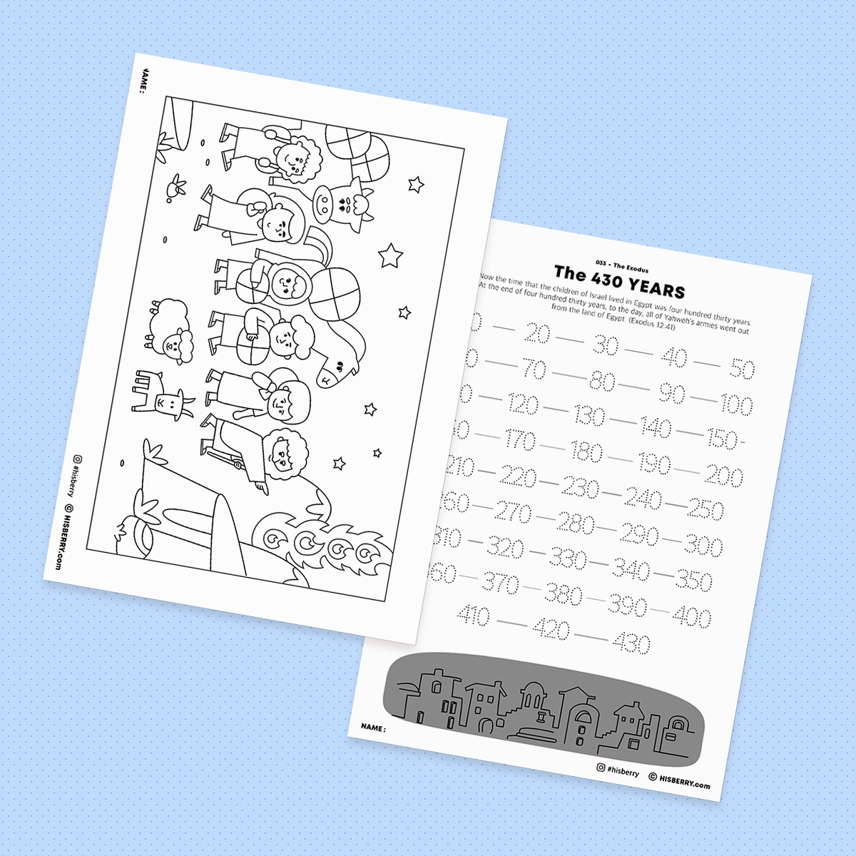 the-Exodus-Bible-drawing-Coloring-pages-printables