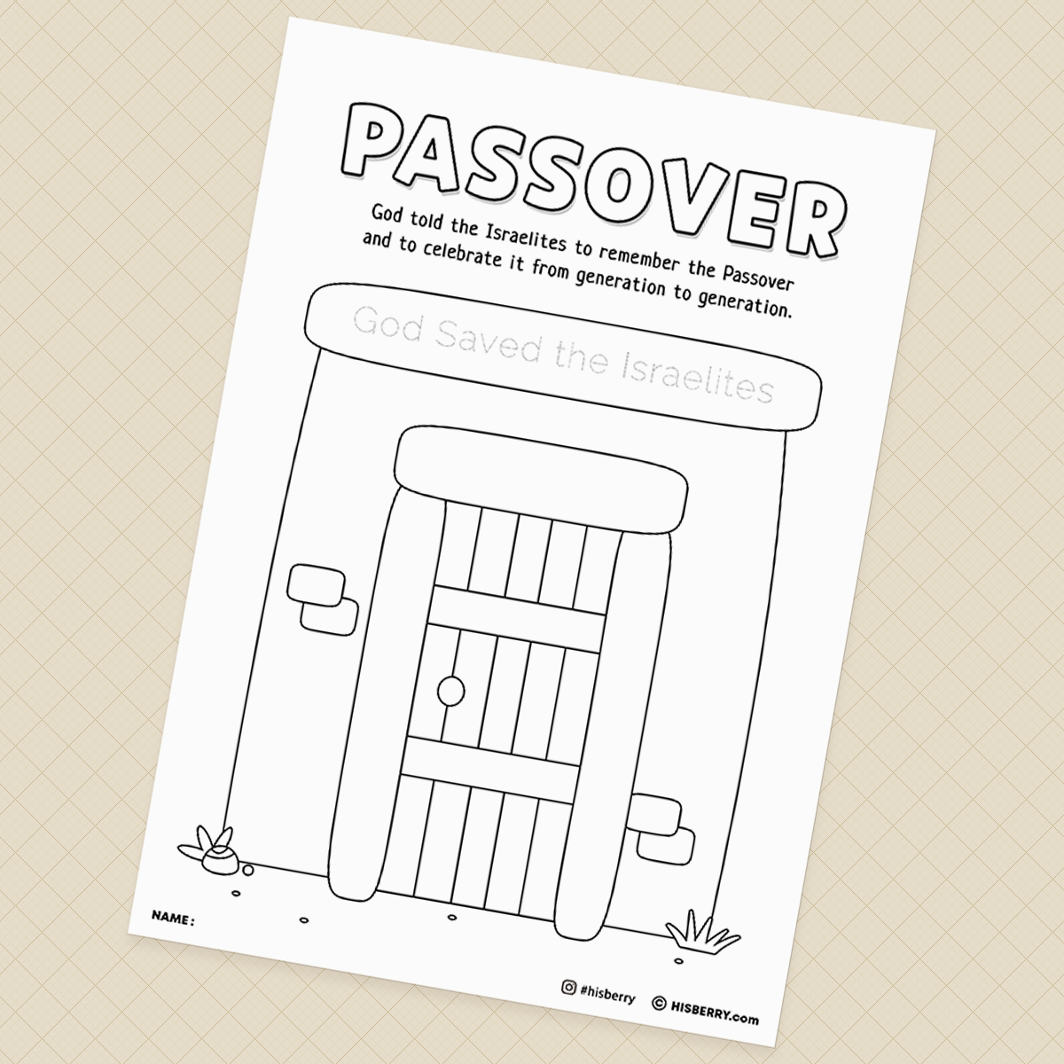 The-Passover-Bible-lesson-Activity-Printables