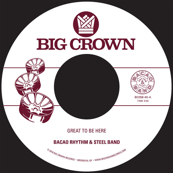 "Bacao Rhythm & Steel Band ‎– Great To Be Here  (Vinyl 7"")"
